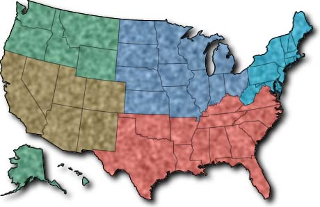 Unit - 5 us regions map