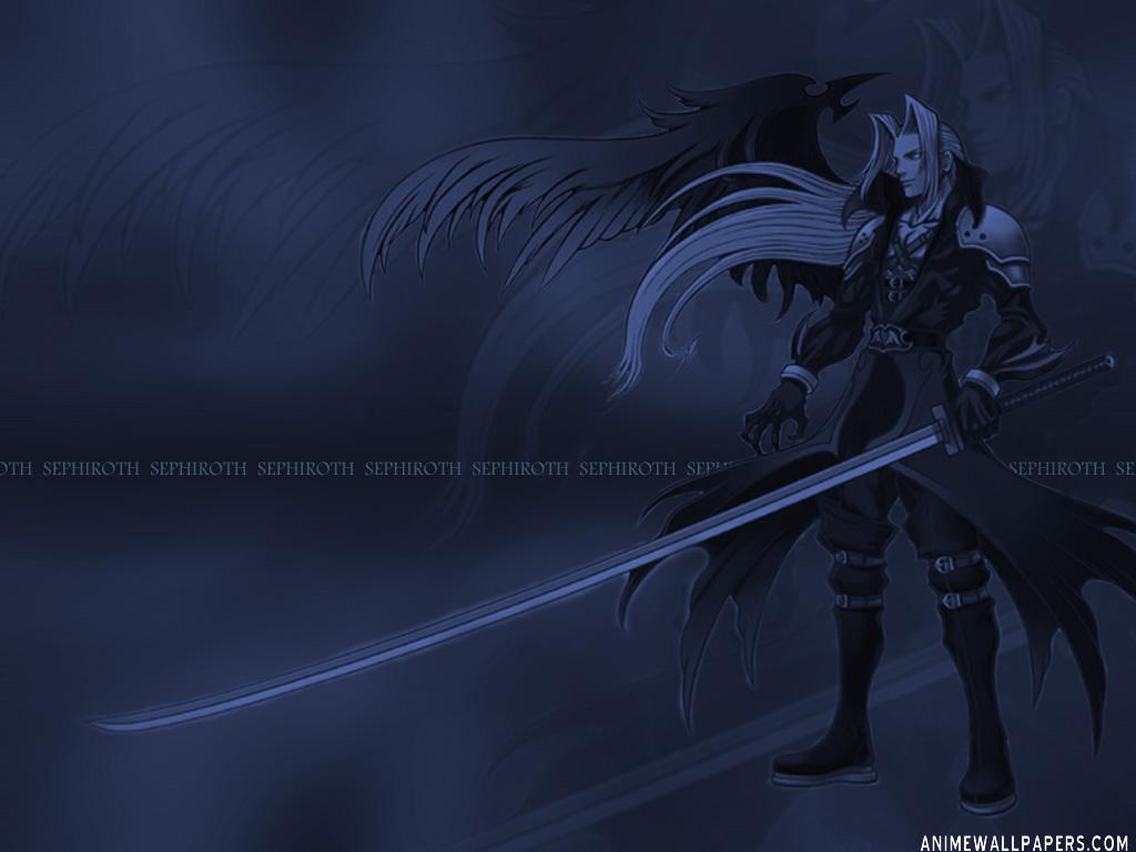 BlueSwirl Wallpaper · Sephiroth Wallpaper (1024 x 768)